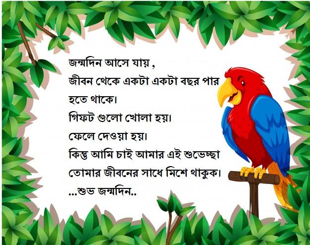 Birthday Status Bangla
